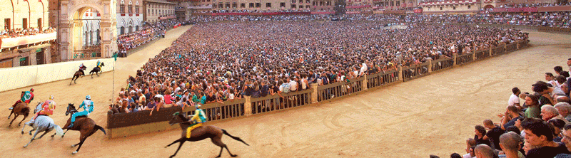 Il Palio, the horse race that is held twice each year