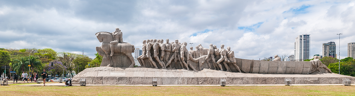 Monumento às Bandeiras, granite, by Victor Brecheret, at the Ibirapuera Park in São Paulo (1954)